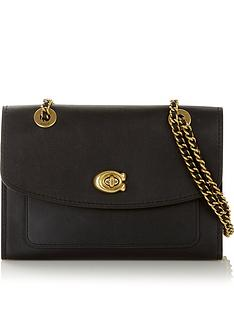 coach-parker-chain-shoulder-bag-black
