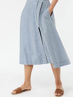 99118671e Monsoon Bella Stripe Cotton Midi Skirt - Blue