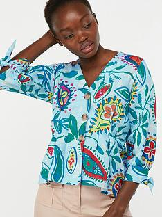 595eb3dd6c18cb 3/4 Length Sleeve | Monsoon | Blouses & shirts | Women | www.very.co.uk
