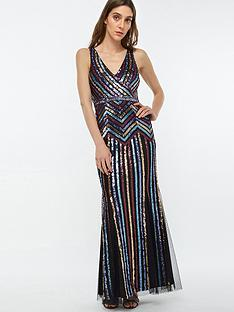 monsoon-whitney-sequin-stripe-maxi-dress-black