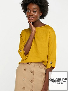 monsoon-adore-linen-t-shirt-yellow