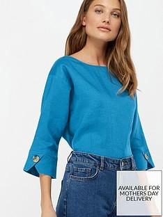 monsoon-adore-linen-t-shirt-blue
