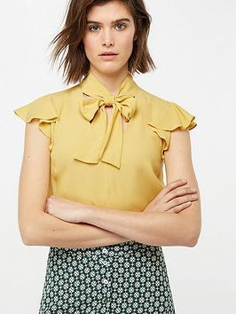 monsoon-clarissa-tie-neck-top-yellow