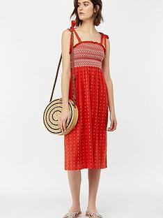 monsoon-rosa-bandeau-midi-dress-red