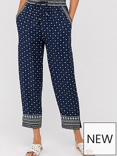 monsoon-tara-print-trousers-navy