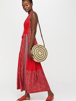 monsoon-dante-jersey-patch-print-dress-red
