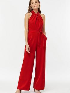 c8198b5b21 Monsoon Rachel Twist Neck Crepe Jumpsuit - Red