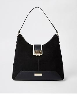 river-island-river-island-lock-front-slouch-bag-black