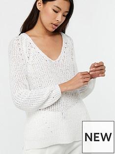monsoon-vildan-v-neck-tape-yarn-jumper-white