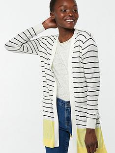 monsoon-sinead-stripe-linen-blend-cardigan-yellow