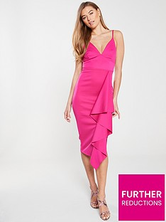 v-by-very-ruffle-front-bodycon-dress-cerise