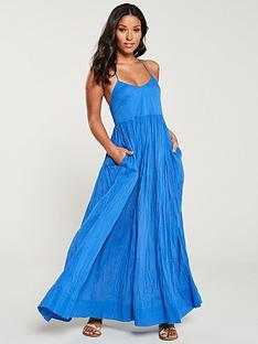 v-by-very-cotton-parachute-maxi-dress-blue