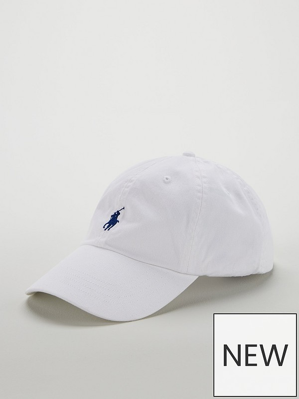 be98efeb1 Polo Ralph Lauren Cotton Chino Baseball Cap - White | very.co.uk