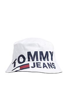 48f452ab Tommy Hilfiger Tommy Jeans Logo Reversible Bucket Hat | very.co.uk