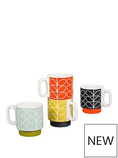 orla-kiely-orla-kiely-linear-stem-stacking-espresso-mugs