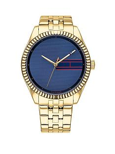 tommy-hilfiger-tommy-hilfiger-lee-blue-sunray-dial-gold-stainless-steel-bracelet-ladies-watch