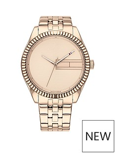 tommy-hilfiger-tommy-hilfiger-lee-carnation-gold-sunray-dial-carnation-gold-stainless-steel-bracelet-ladies-watch