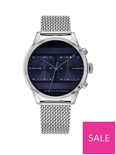 f720cbd11 Tommy Hilfiger Tommy Hilfiger Icon Blue Multi Dial Stainless Steel Mesh  Bracelet Mens Watch