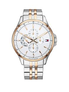 tommy-hilfiger-tommy-hilfiger-silver-and-carnation-gold-chronograph-dial-two-tone-stainless-steel-bracelet-mens-watch