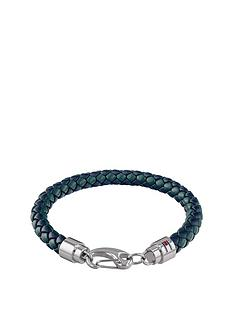tommy-hilfiger-tommy-hilfiger-green-leather-stainless-steel-clasp-mens-bracelet