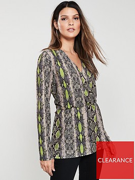 v-by-very-neon-snake-wrap-top-print
