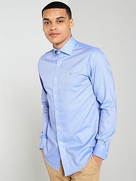 lauren-by-ralph-lauren-long-sleeve-spread-collar-fitted-shirt--nbspnavy