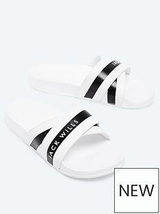 jack-wills-harrow-sliders-white