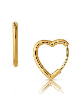 links-of-london-links-of-london-endless-hearts-18ct-gold-plated-sterling-silver-hoop-earrings