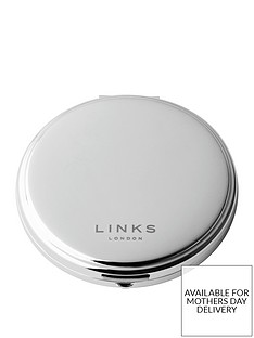 links-of-london-links-of-london-silver-plate-round-compact-mirror