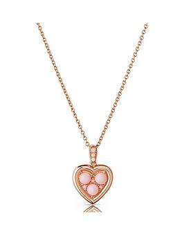 links-of-london-links-of-london-18ct-rose-gold-plated-sterling-silver-pink-opal-heart-pendant-necklace