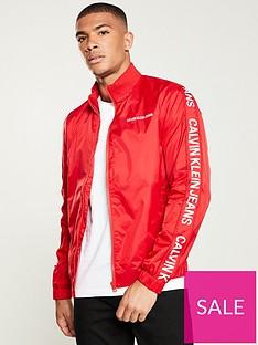 calvin-klein-jeans-side-logo-trucker-jacket-red