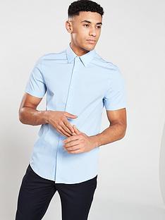 calvin-klein-jeans-slim-stretch-short-sleevednbspbari-shirt-chambray-blue