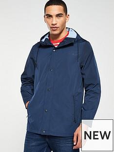 Calvin Klein Logo Nylon Windcheater Jacket - Navy b410bb7caa
