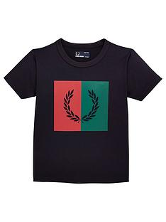 b3b864cc8a Fred Perry Boys Laurel Wreath Short Sleeve T-Shirt - Navy