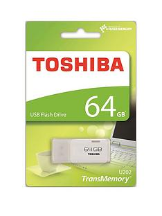 Toshiba 64GB USB 2.0 Flash Drive - White