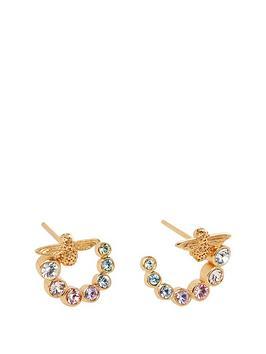 olivia-burton-olivia-burton-18kt-gold-plated-rainbow-bee-swarovski-crystal-swirl-hoop-earrings