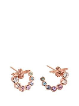 olivia-burton-olivia-burton-18kt-rose-gold-plated-rainbow-bee-swarovski-crystal-swirl-hoop-earrings