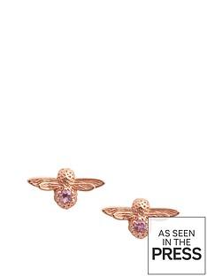 olivia-burton-olivia-burton-18kt-rose-gold-plated-amethyst-bejewelled-bee-stud-earrings