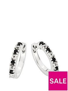 love-gem-9ct-white-gold-black-sapphire-11-point-diamond-huggie-hoop-earrings