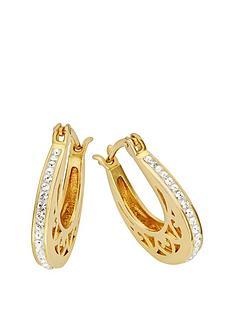 evoke-gold-plated-sterling-silver-swarovski-crystal-filigree-hoop-creole-earrings