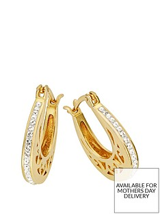 evoke-gold-plated-sterling-silver-swarovski-crystal-filigree-hoop-creole-earrings