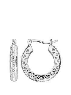 evoke-sterling-silver-swarovski-crystal-filigree-heart-hoop-creole-earrings