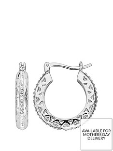 evoke-sterling-silver-swarovski-crystal-filigree-heart-hoop-creole-earrings