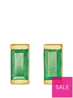 love-gem-gold-plated-sterling-silver-emerald-baguette-stone-stud-earrings