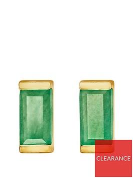 love-gem-gold-plated-sterling-silver-emerald-baguette-stone-stud-earrings