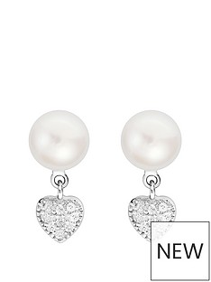 love-pearl-sterling-silver-cubic-zirconia-freshwater-pearl-heart-drop-stud-earrings