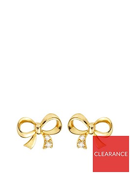 love-gold-9ct-gold-cubic-zirconia-bow-stud-earrings