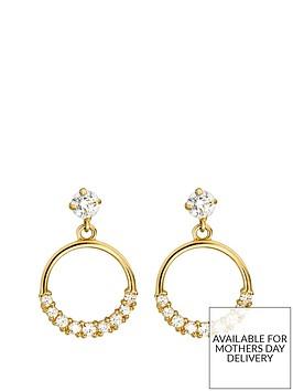 love-gold-9ct-gold-cubic-zirconia-circle-drop-stud-earrings