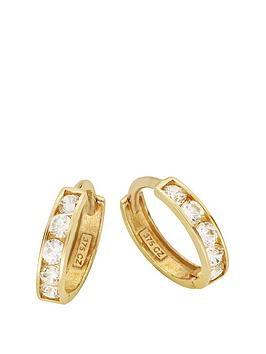 love-gold-9ct-gold-cubic-zirconia-mini-huggie-hoop-earrings