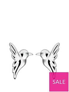 4e09d8959 The Love Silver Collection Sterling Silver Hummingbird Stud Earrings